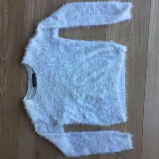 Glassons Fluffy White Jumper #under20