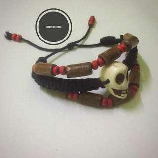 One Boho Howlite Skull Bracelet