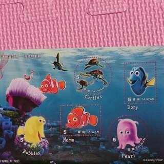 收藏郵票-海底總動員系列