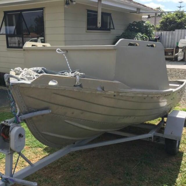 12 Ft Aluminium Dingy And Trailer Only No Motor ..!