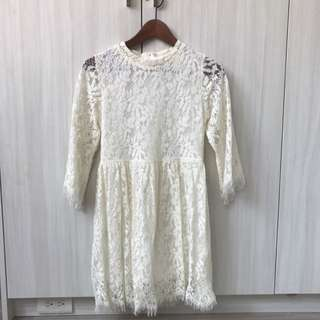 //現貨//Pazzo蕾絲短洋裝