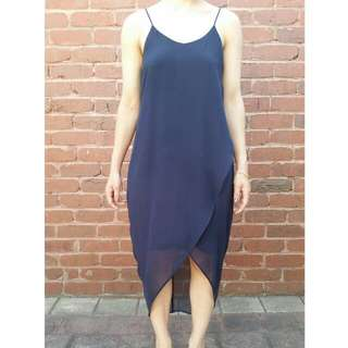 H&M Navy Slip Dress Size 8