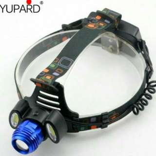 🆕🔞Light Long shots T6 three headlights night fishing super bright four sections change outdoor searchlight escape light LED rechargeable