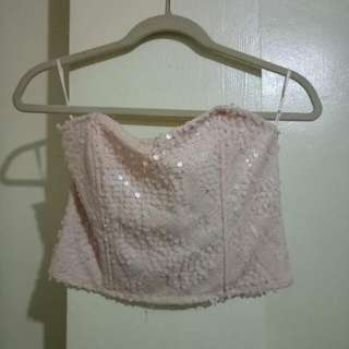 Forever 21 Pink Tube Crop Top