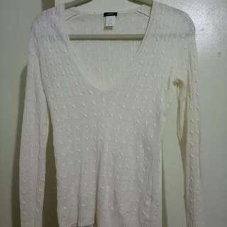 J.Crew White Knitted Long Sleeves