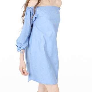 Off Shoulder Dress by COTTON INK