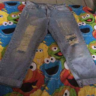 Celana Jeans Sobek2