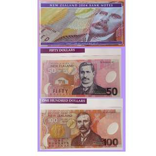 2004 New Zealand same number set AA 04 000167 (only 1000 issued)