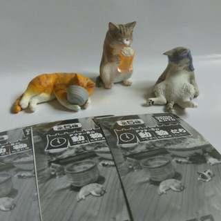 動物 下班時光 第一代 領帶貓 啤酒貓 黃貓 虎斑扭蛋 轉蛋(一隻120,有紙)