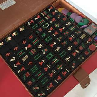 Black Mahjong Tiles