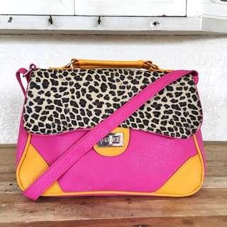 Sling Bag (Pink and Leopard Details)