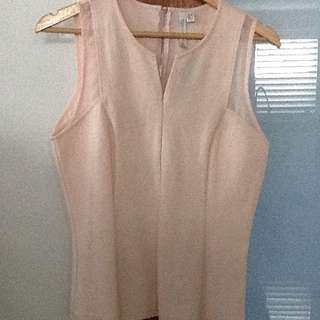 Singlet Top With Mesh Detail