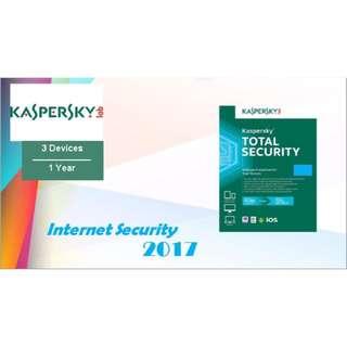 Antivirus Kaspersky Total Security/Pure 2017 3 PC 1 Year