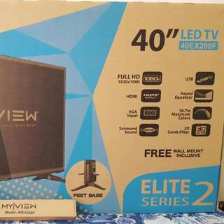 "BRAND NEW!!! My View 40"" LED TV"