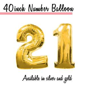 40 Inch Number Balloon [HELIUM]