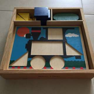 Melissa And doug Wooden Shape Puzzle