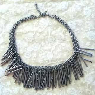 H&M Silver tubes necklace
