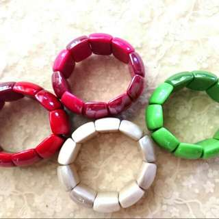 Bangles (red/green/pink/white)