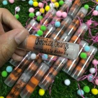 💯 Natural Handmade Lip balms - Chocolate orange