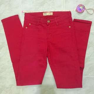Authentic Cotton-On Red Skinny Jeans