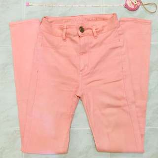 Authentic American Eagle Light Pink Jeggings