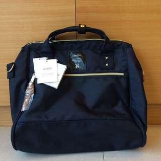 🚚 日本anello側背包【L size anello兩用2way手提肩背包】海軍藍 A4大容量 側背包 斜背包 手提包