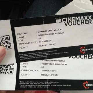 Cinemaxx Voucher (2 Pcs)