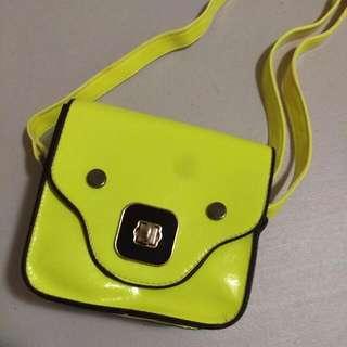 Neon Boxy Sling Bag - Yellow