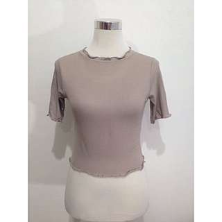 Zara Inspired 3/4 T-Neck Top