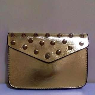 Studded Mini Sling Bag - Gold