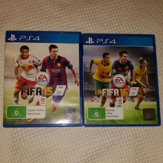 Two Ps4 Fifa Games (2015 And 2016) Selling Individually