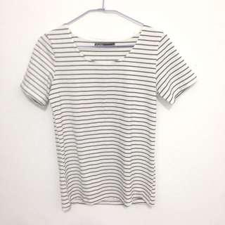 CACO 黑白條紋短袖T恤