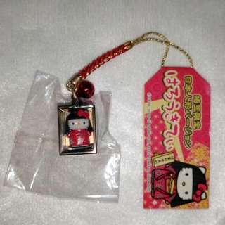 Hello Kitty日本娃娃人形吊飾(日本帶回)