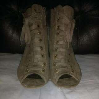 Peep toe High Heeled Boots