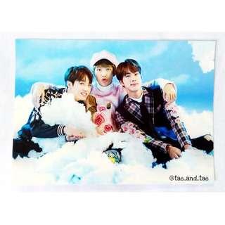 BTS Official Wings Tour Paper Frame - Unit (Jung Kook, Rap Monster & Jin)