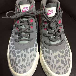 Nike灰豹紋粉紅勾鞋