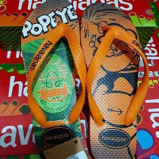 Original overun havaianas slippers with tag and box