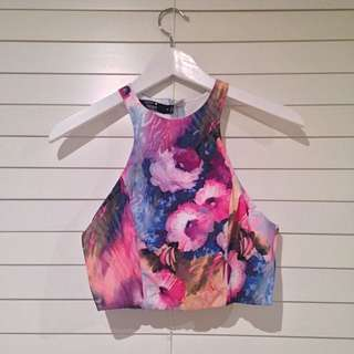 Paper Heart Floral Crop Top #decluttermarch