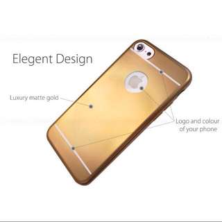 Anti Fingerprint Matte Gold Plated Case For iPhone 7