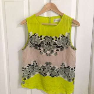 Shakuhachi Acid Bloom Citrus Tank XS 6