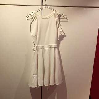 White Cocktail Dress Sz8