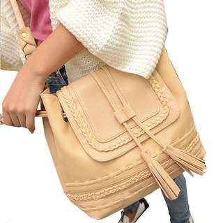 Braid & Tassel Bucket Bag