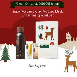 Innisfree Super Volcanic Clay Mousse Mask Christmas Special Set