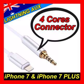 Lightning to 3.5mm Jack Male Audio AUX Lead Cable iPhone 7 Plus iPhone 6 6s TRRS