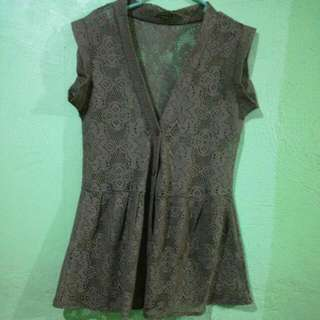 Knitted Blouse/cover Up