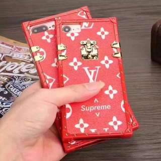 Soft TPU LV x Supreme iPhone Case
