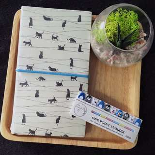 Lined Notebook Set With Paper Point Markers
