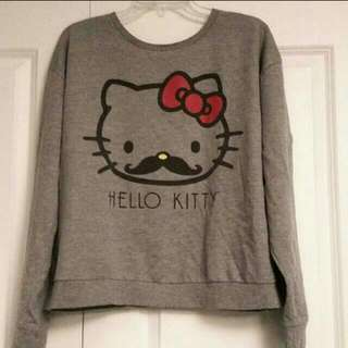 Hello Kitty Mustache Sweater