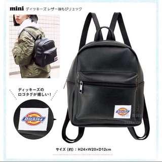 Dickies 正品 後背包 日本 Mini 雜誌附錄 美國品牌 貼布 Logo 貼布 徽章 黑色 皮革 後背包