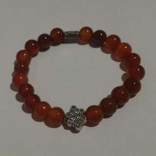 gelang batu red agate